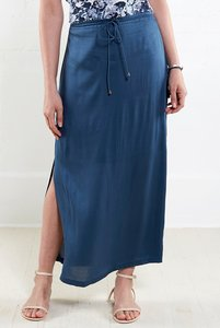 Plain Long Skirt - atlantic - Nomads Fair Trade Fashion