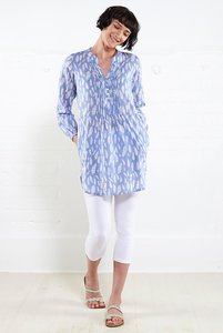 Printed Tunic Shirt - Chambray - Nomads Fair Trade Fashion