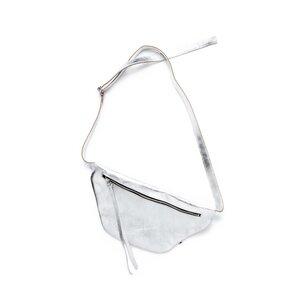 Schulter- & Hüfttasche HUGO aus Leder - Silber - ELEKTROPULLI