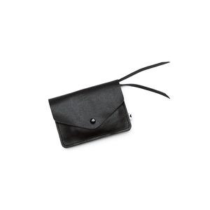 Kleines Portemonnaie PAULINE aus Leder - Schwarz  - ELEKTROPULLI