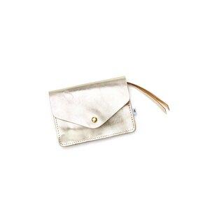 Kleines Portemonnaie PAULINE aus Leder - Gold - ELEKTROPULLI