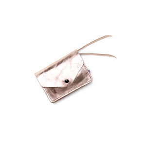 Kleines Portemonnaie PAULINE aus Leder - Kupfer - ELEKTROPULLI