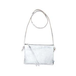 Lederhandtasche LILLY aus Leder - Silber - ELEKTROPULLI