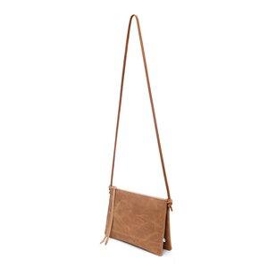 Lederhandtasche ELLA aus Leder mit zwei Fächern - Braun - ELEKTROPULLI