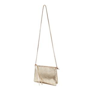 Lederhandtasche ELLA aus Leder mit zwei Fächern - Gold - ELEKTROPULLI