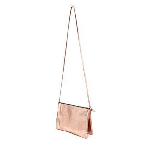 Lederhandtasche ELLA aus Leder mit zwei Fächern - Kupfer - ELEKTROPULLI