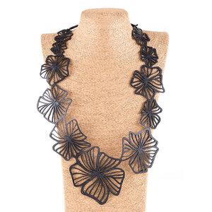 Canna Blumen Statement Halskette aus Kautschuk - SAPU