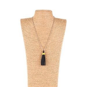 Long Tassel Halskette aus recyceltem Reifenschlauch - SAPU
