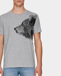 Kommabei Herren T-Shirt Bruder Bär grau - Kommabei