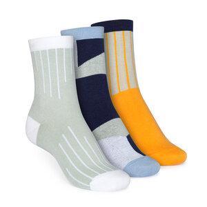 3er Pack Socken Mittelhoch // Colour Grading/Geometric/Vertical - THOKKTHOKK