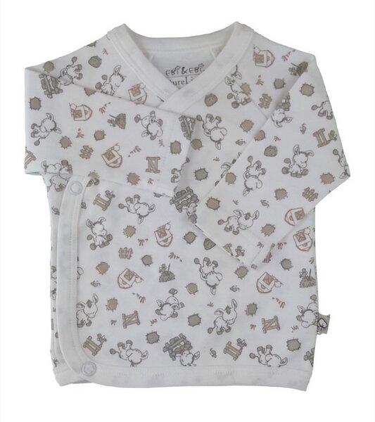 Baby Wickelhemd Weiß / Allover Bio Baumwolle
