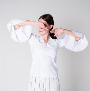 Shirt BRIZA neoprene weiß - JAN N JUNE