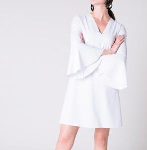 Kleid BELLIS NEOPRENE weiß - JAN N JUNE