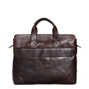 MAPPE BRIEFCASE OXFORD  leder dunkelbraun , ECO-LEDER, FAIR TRADE - manbefair