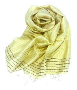 CITRONELLA Edler Schal aus handgewebter Seide - Schönes aus Indochina