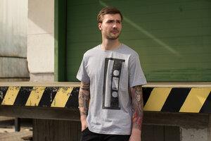 C90 Kassette Bio & Fair Herren T-Shirt _heather grey - ilovemixtapes