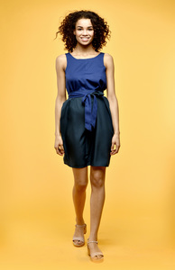 Tulpina Kleid blau grün - Flowmance