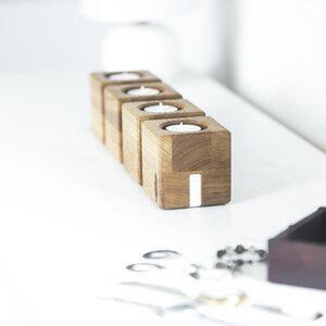 Kerzenhalter kvar, Kerzenständer aus Holz | Kerzenhalter für 4 Kerzen - Holzbutiq