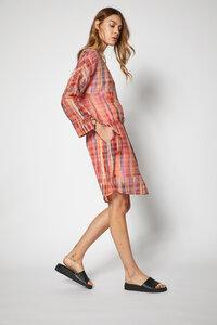 Kleid aus Bio-Baumwolle mit Seide Print Ethno - Lanius