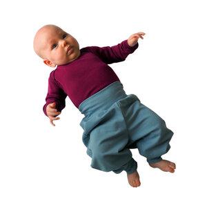 sommerleichte Baby-Gemütlichkeitshose graublau  - bingabonga