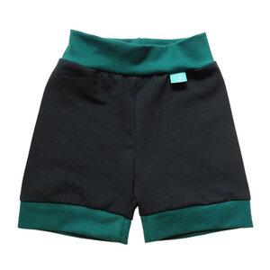 leichte Baby Jersey-Shorts marine/smaragd - bingabonga