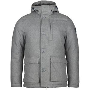Winterjacke - Wool parca - Grey Melange - KnowledgeCotton Apparel