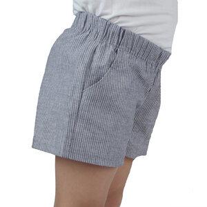 Baumwoll-Shorts mit Taschen in Leinenoptik - Carlique