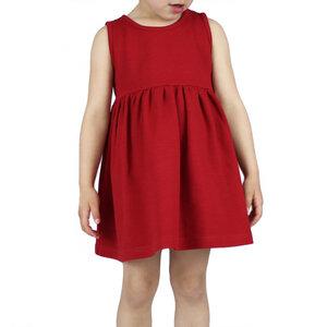Kleid mit Waffelstruktur in rot - Carlique