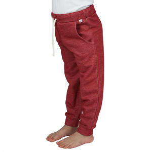 Sweat-Hose mit Taschen in rot meliert - Carlique