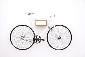 Fahrradhalterung TIÂN - Eiche/Weiss - MIKILI