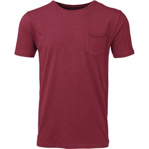 Basic Tee With Chest Rosewood - KnowledgeCotton Apparel