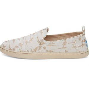 Deconstructed Alpargatas White/Gold Palms - Toms