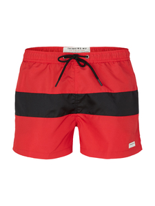 Red Line Swim - Dark Red - thinking mu