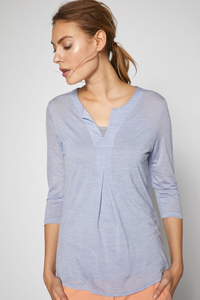Shirt mit Falte aus Tencel® mit Bio-Merinowolle - Lanius