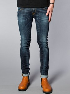 Tight Long John Organic Calm Blues - Nudie Jeans