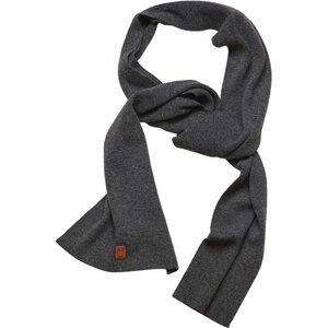 Scarf organic wool - Dark Grey Melange - KnowledgeCotton Apparel