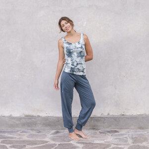 HELENA BATIK - Damen - Top für Yoga aus Biobaumwolle - Grün - Jaya