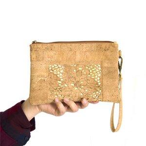 Clutch Handgelenktasche Klimts Blume Gold - JuliaPilot