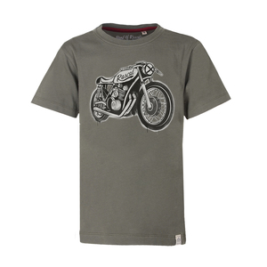 Cafe Racer  - Cooles Kinder Motorrad T-Shirt Kurzarm aus 100% Bio-Baumwolle - Band of Rascals