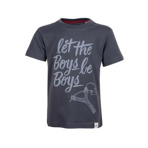 LTBBB - Cooles Kinder Zwillen T-Shirt Kurzarm aus 100% Bio-Baumwolle - Band of Rascals