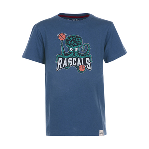 Octopus -Kinder Basketball T-Shirt Kurzarm aus 100% Bio-Baumwolle - Band of Rascals