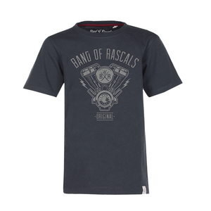 Engine - Cooles Kinder Maschinen T-Shirt Kurzarm aus 100% Bio-Baumwolle - Band of Rascals