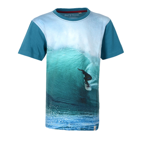 Digital Surf - Cooles Surf Kinder T-Shirt Kurzarm aus 100% Bio-Baumwolle - Band of Rascals