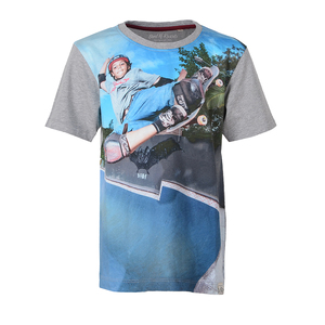 Digital Skate - Skateboard Kinder T-Shirt Kurzarm aus 100% Bio-Baumwolle - Band of Rascals