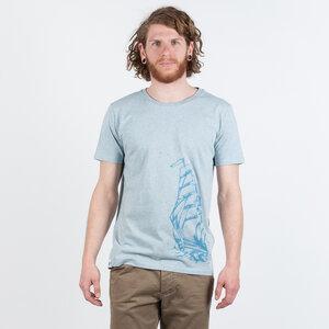 SCHIFF MEN T-SHIRT HEATHER ICE BLUE - HAFENDIEB