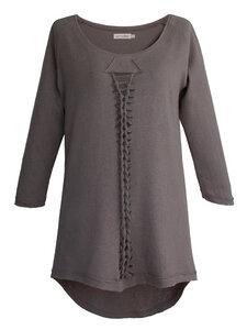 BRAIDY Hemp Pullover – grau - woodlike