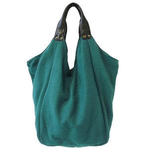 Hava Tasche - handgewebt! - Baumwolle und Kunstleder - AuraQue