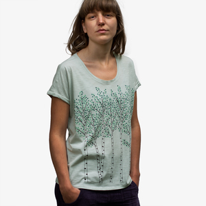 Damen T-Shirt Birken in light opaline - Cmig