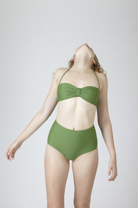 BIKINI BOTTOM No. 3  green - MARGARET AND HERMIONE Swimwear Vienna