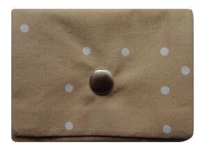 Leesha WILDe Upcycling Mini Portemonnaie Creme Dots - Leesha